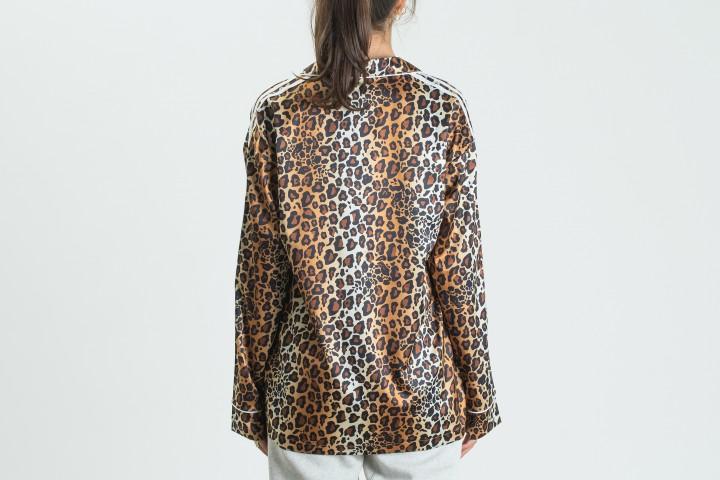 Satin Button-Up Shirt