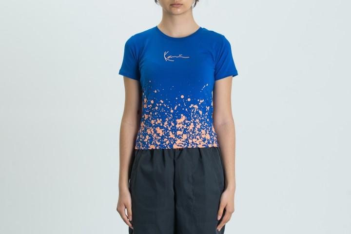 Small Signature Paint Splatter Short T-shirt