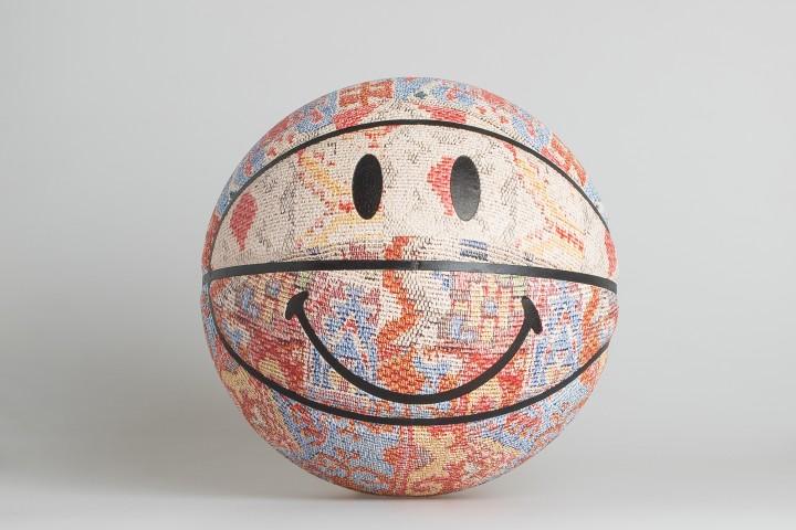 Smiley Patchwork Rug Basketball