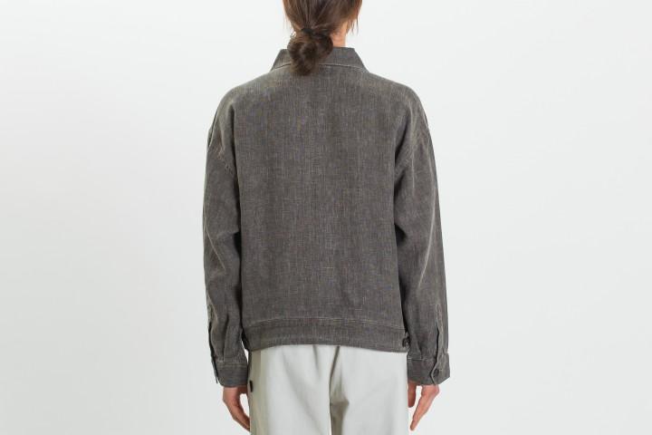 Boxy Linen Zip Jacket