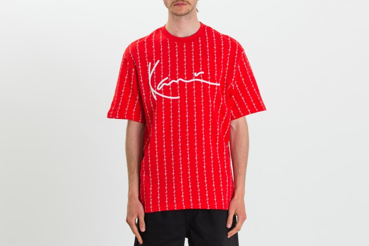 Signature Logo Pinstripe T-shirt