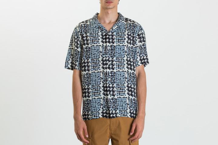Hand Drawn Houndstooth Shirt