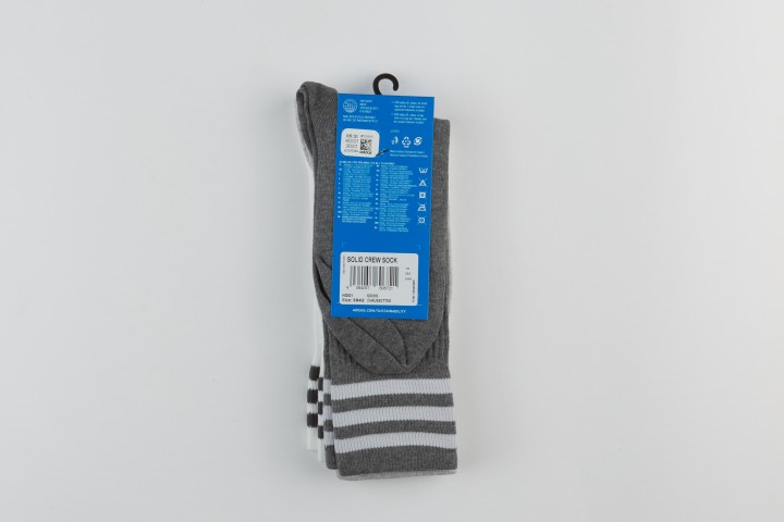 Solid Crew Socks