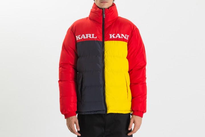 Retro Reversible Block Puffer Jacket