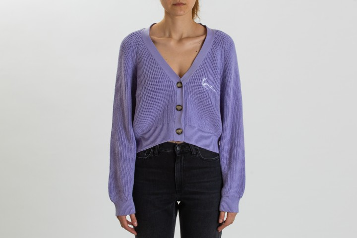 Chest Signature Knit Jacket