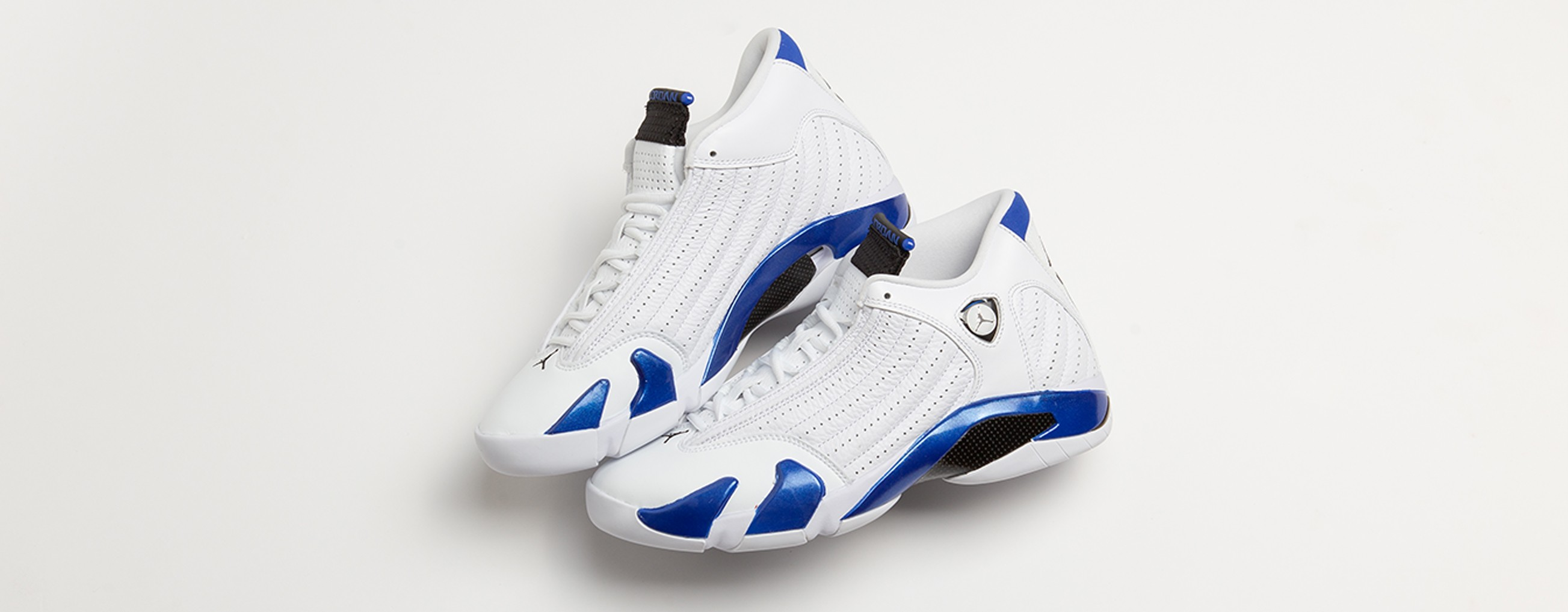 JORDAN 14 RETRO WHITE / BLACK / HYPER ROYAL