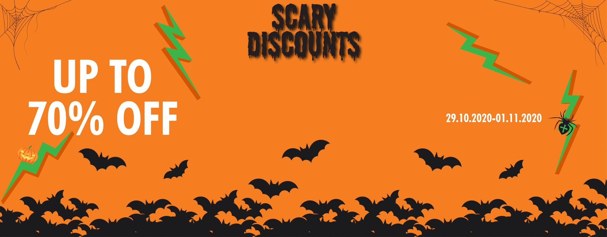 SPOOKY DISCOUNTS UP TO 70% OFF